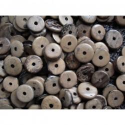 NR. 15 Kokos ringetjes Ø 12mm creme gemeleerd